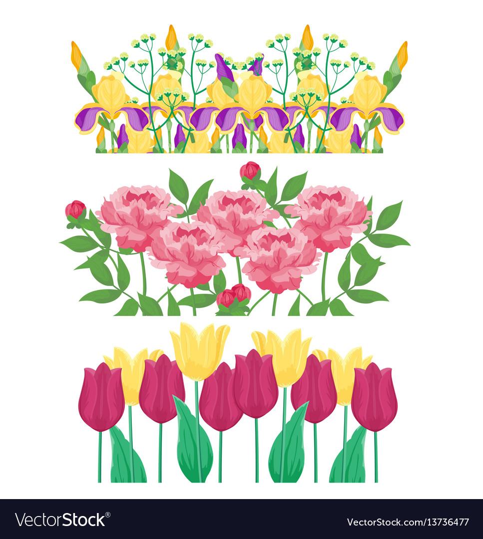 Cartoon petal vintage floral bouquet garden