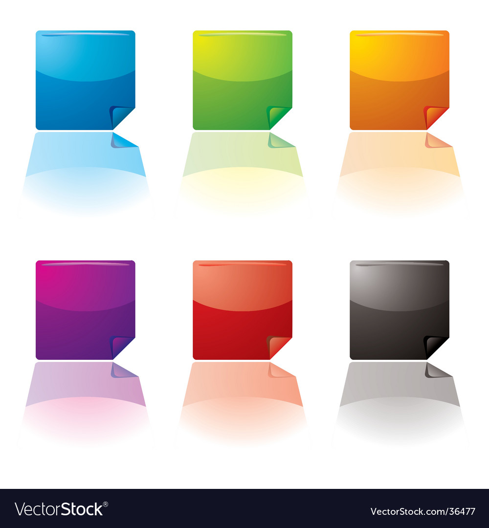 Curl buttons vector image