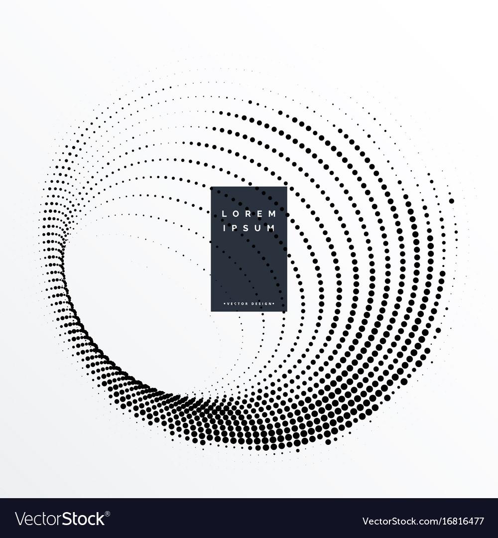 Halftone dots swirl effect background