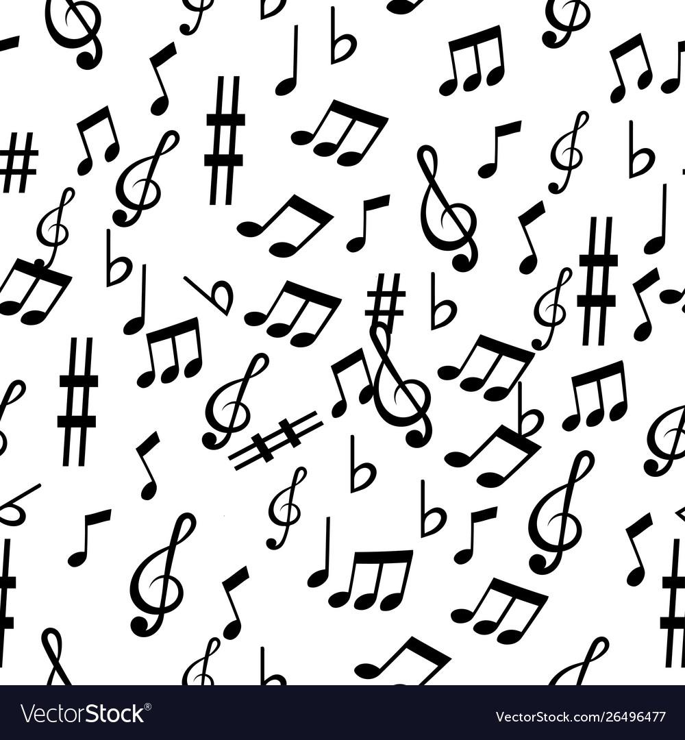 Music note pattern sameless
