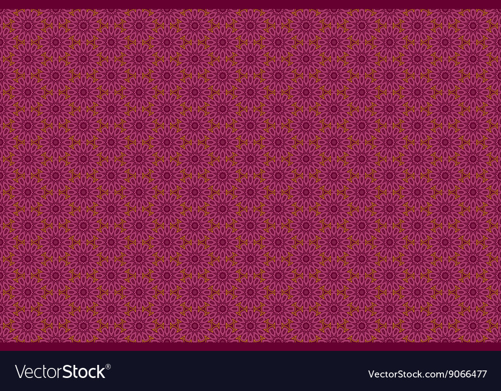 Ornate seamless border in Eastern style on