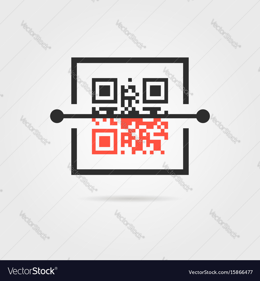 Qr scan icon with shadow