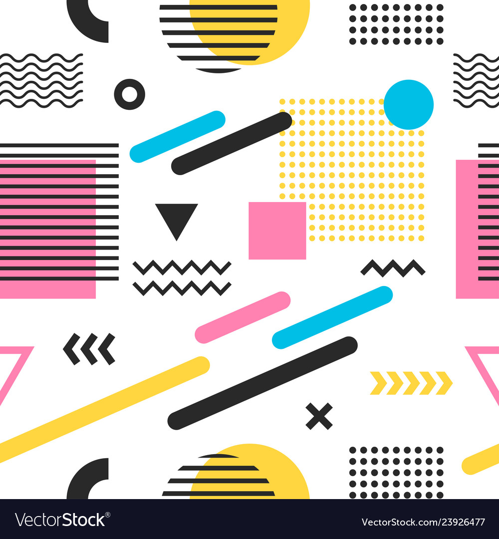 Seamless trendy colorful abstract pattern