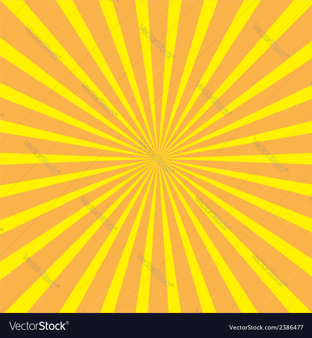 Sunburst with ray of light Template Yellow and ora