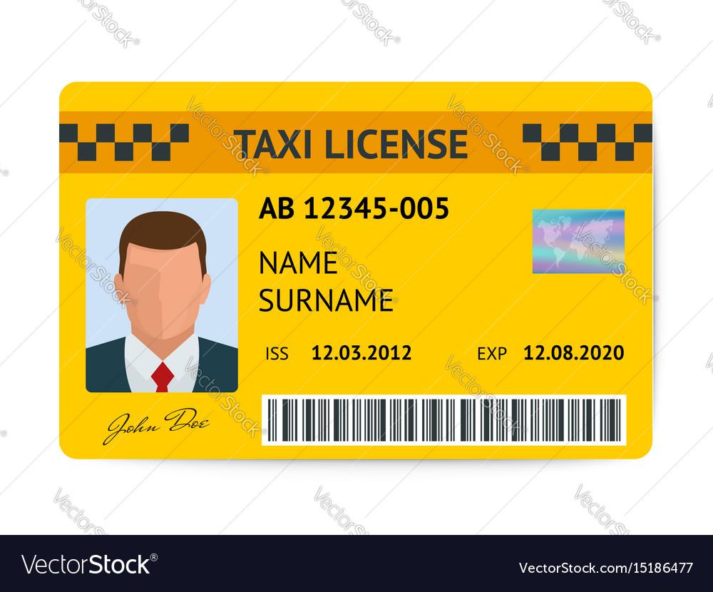 Taxi license symbol document