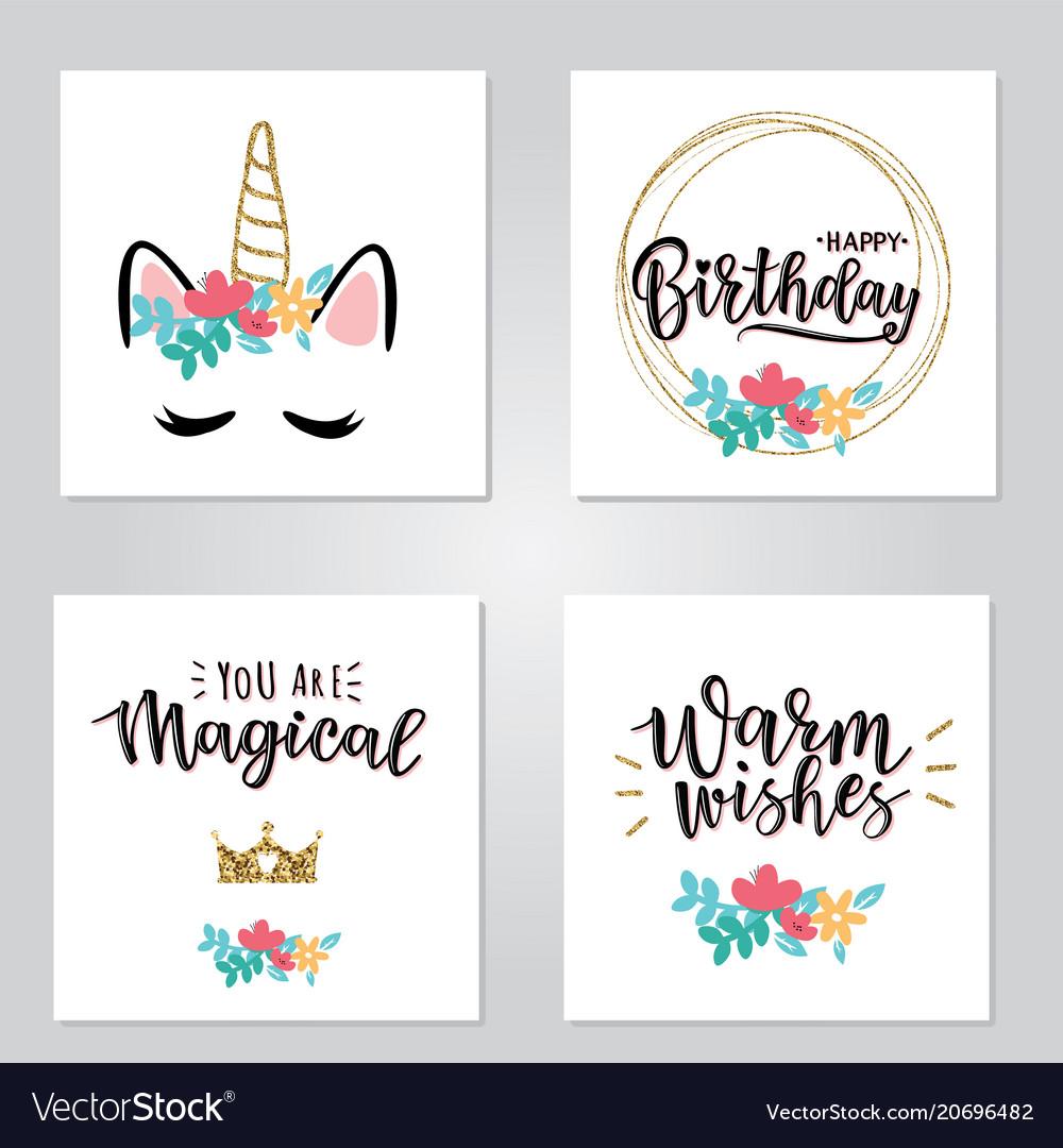 A magical cards set