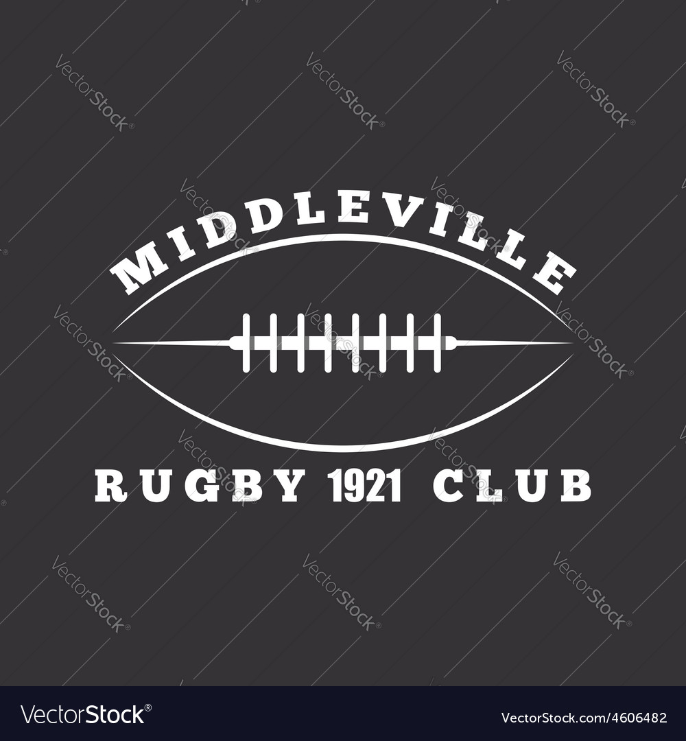 American football or rugby ball club logo template