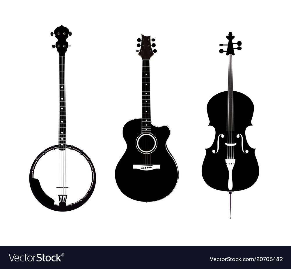 Banjo acoustic guitar and banjo