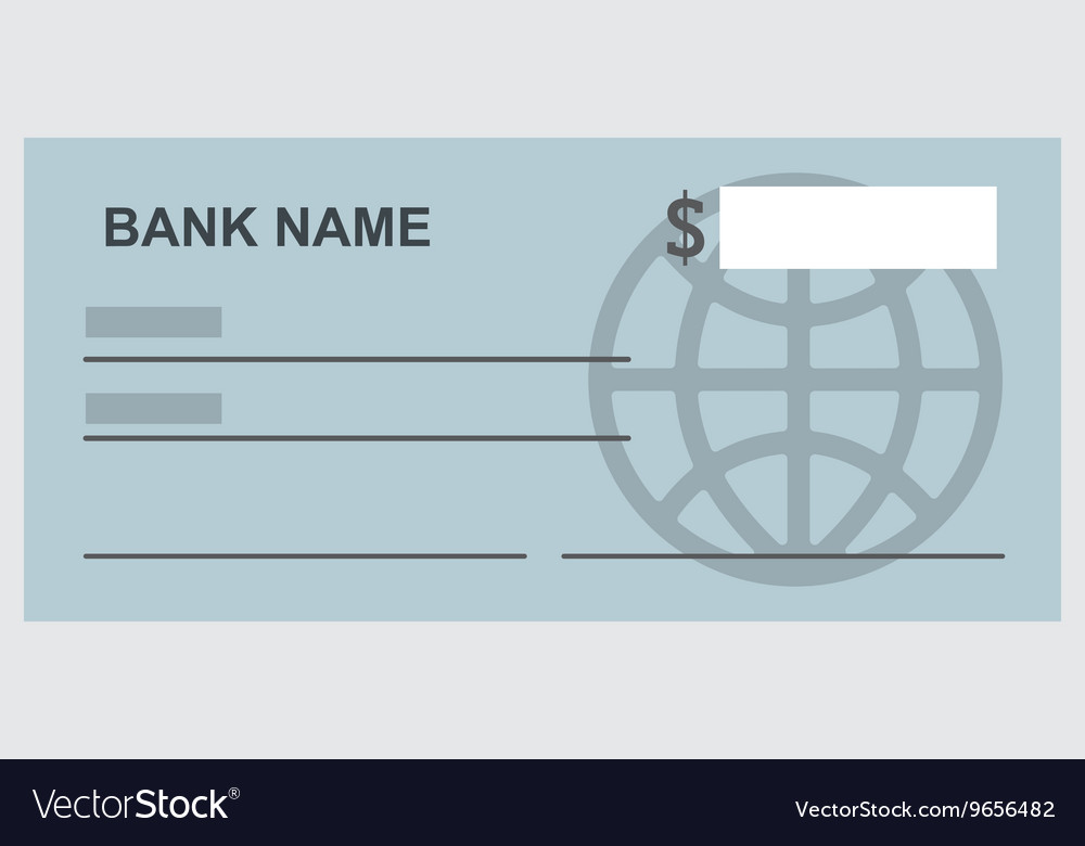 Bank check isolated icon design