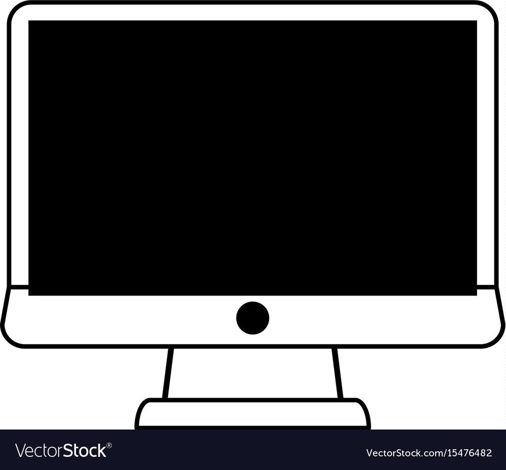 Blank screen computer monitor
