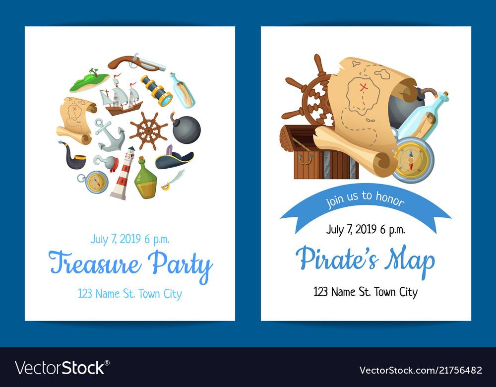 Cartoon sea pirates birthday party