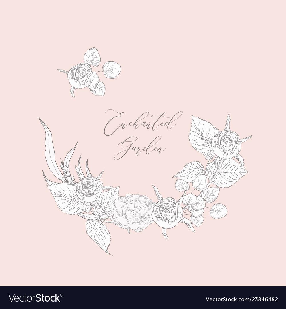Floristic feminine brand logo template
