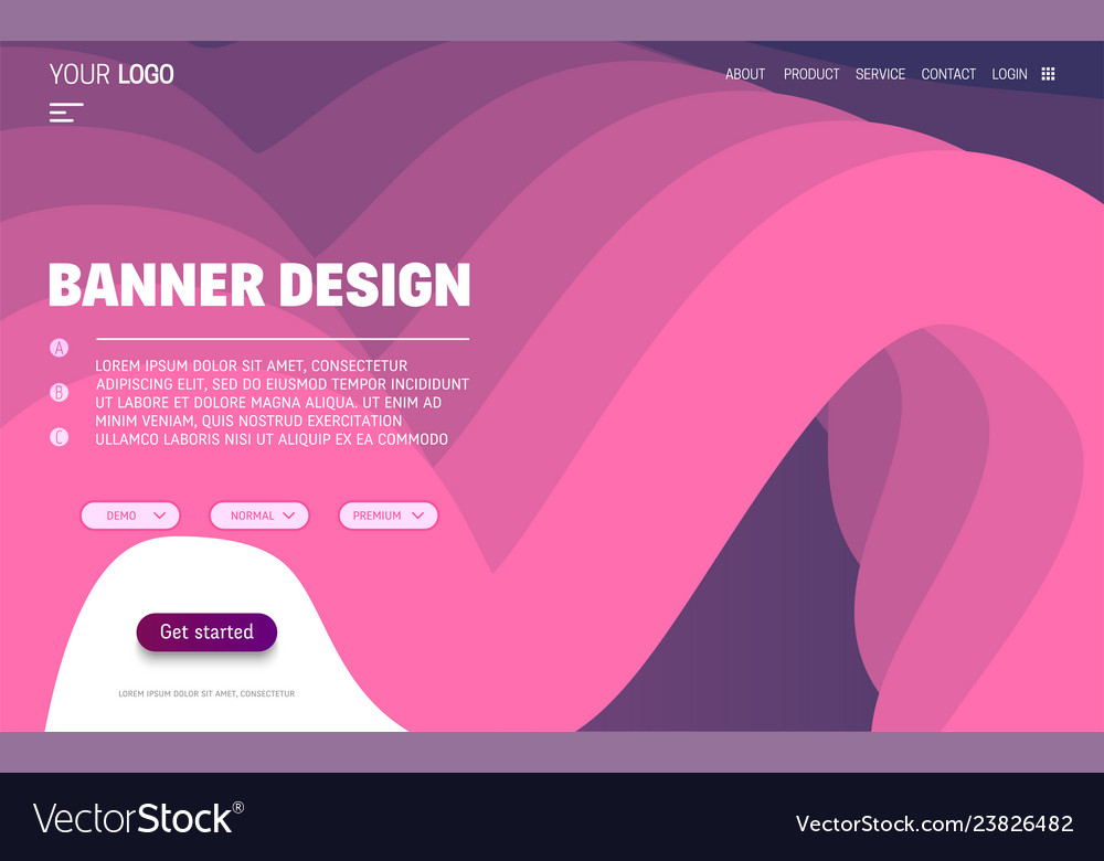 Fluid colorful shapes website template trendy