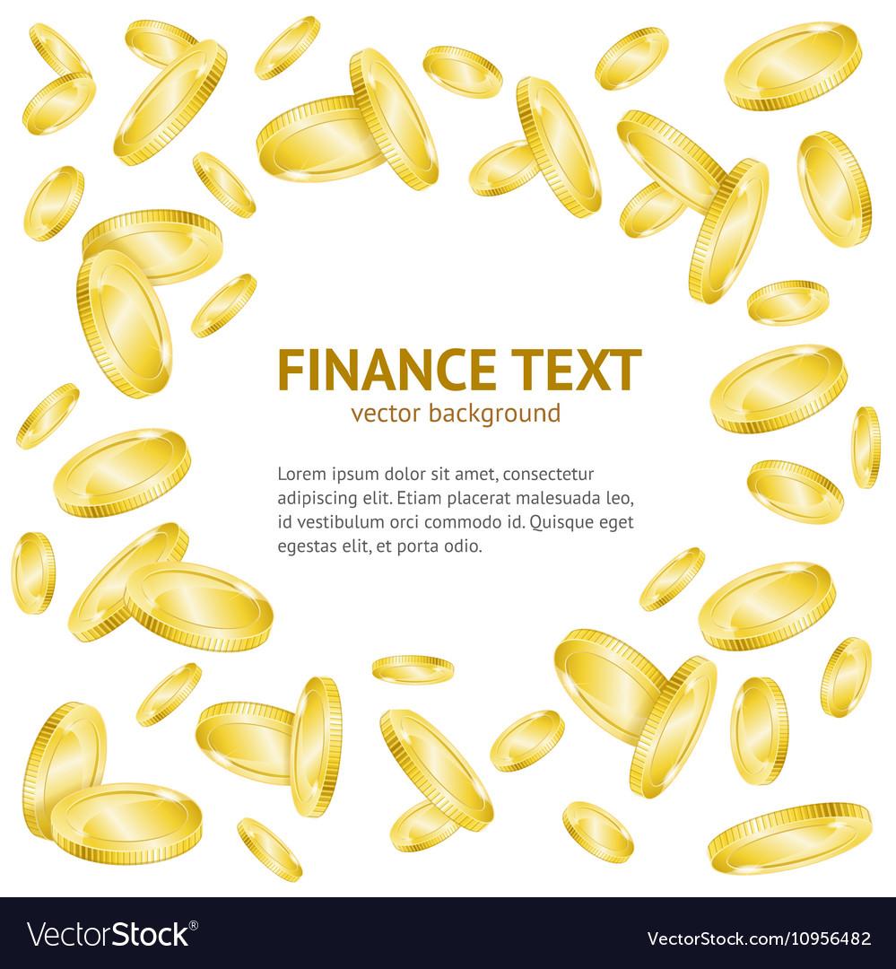 Gold Coin Money Banner vector image