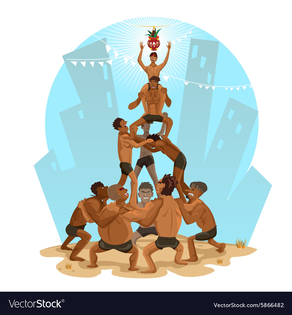 dahi handi cartoon