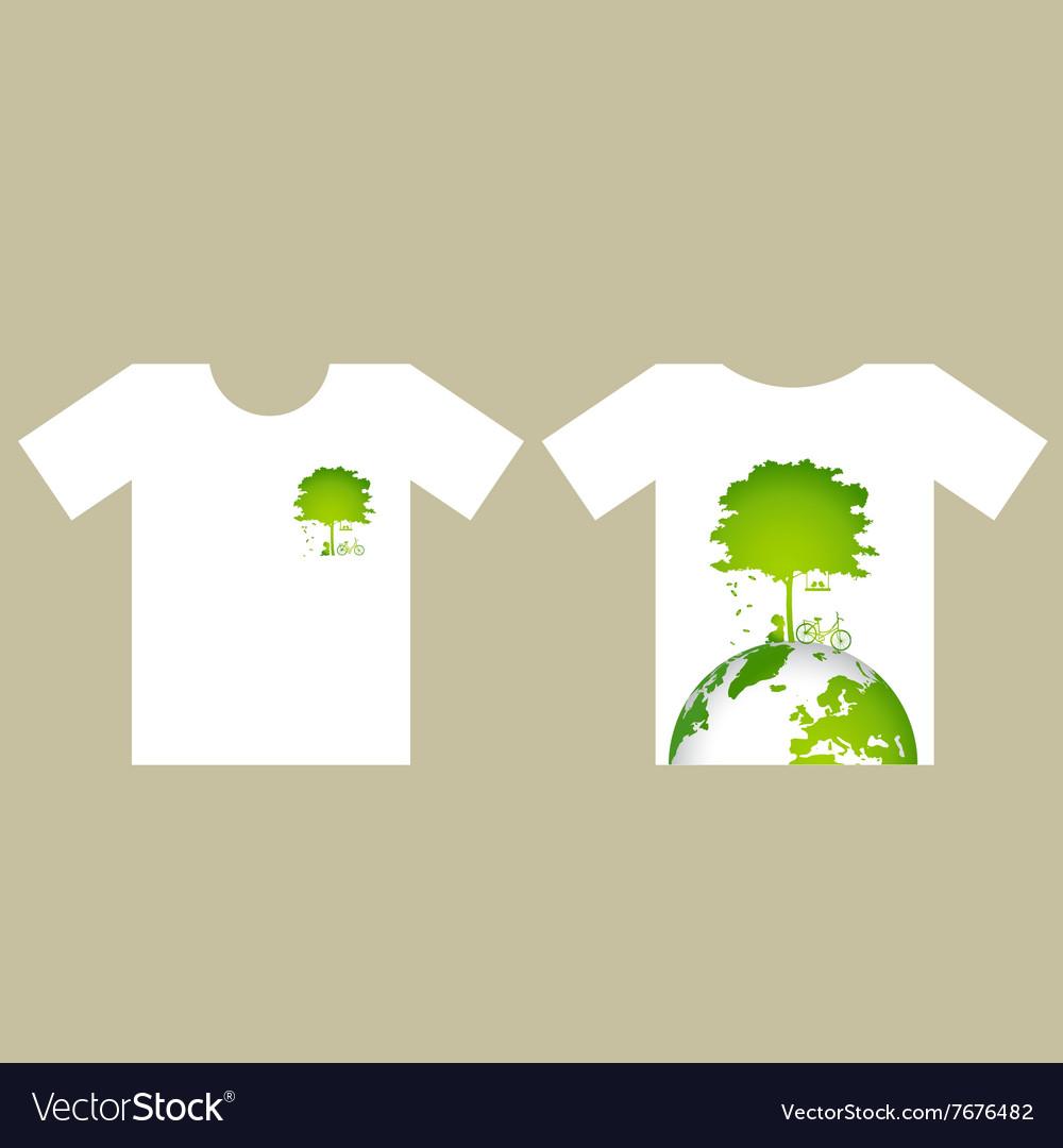 T Shirt Design Eco Friendly Creative Ecology Vector Image