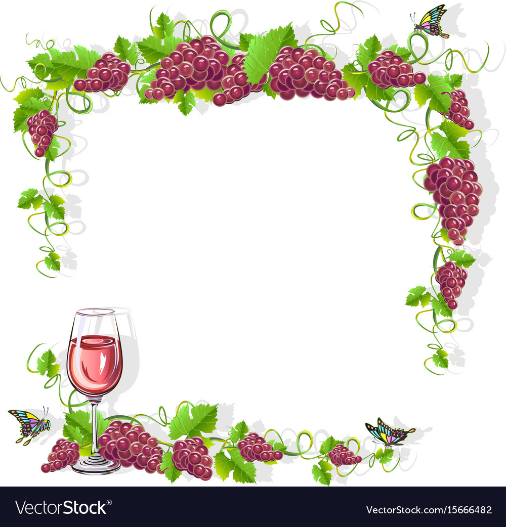 Wine frame free Royalty Free Vector Image - VectorStock