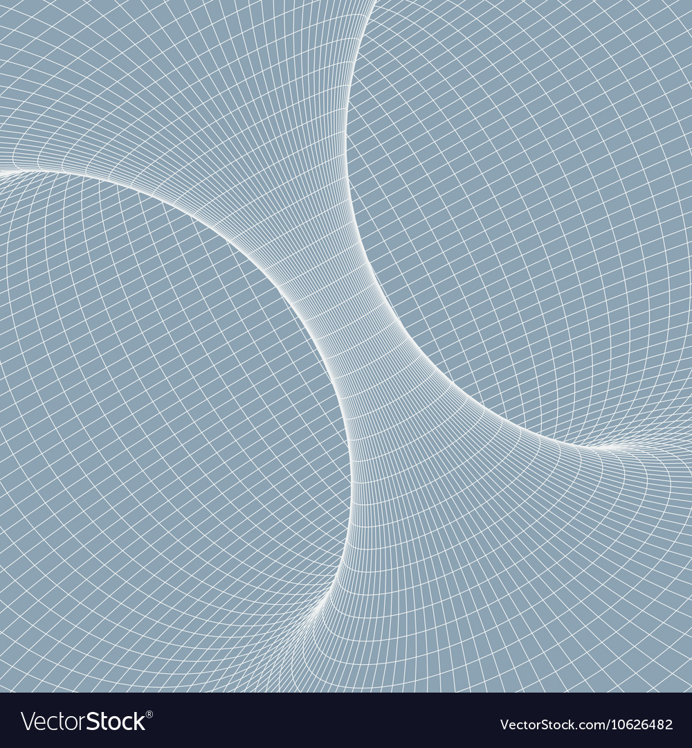 Wireframe torus with connected lines and dots