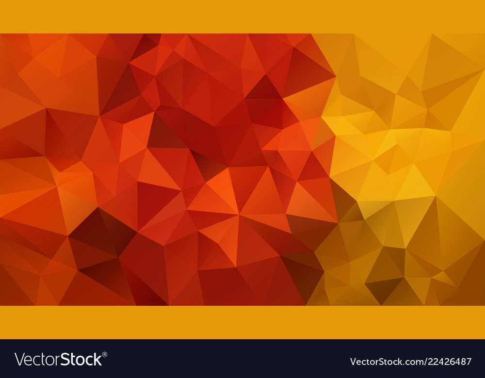 Abstract irregular polygonal background red yellow