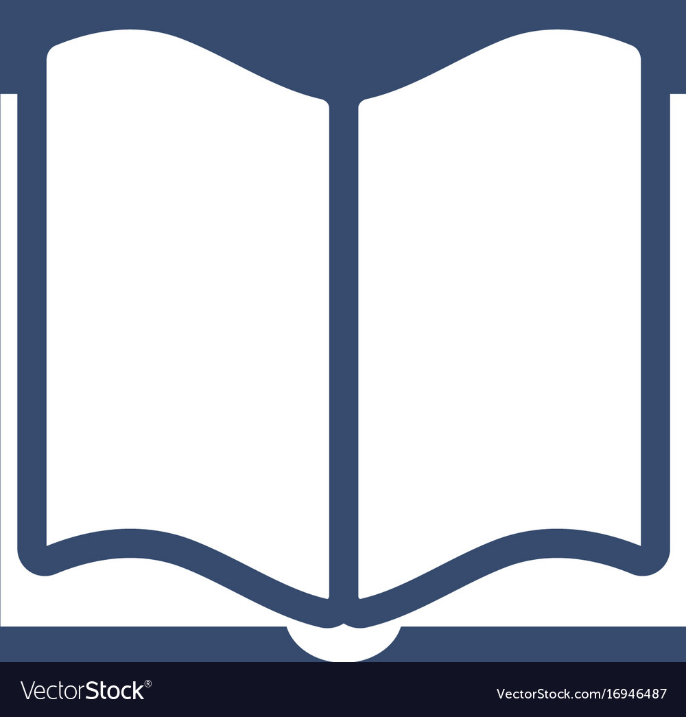 Book icon flat design