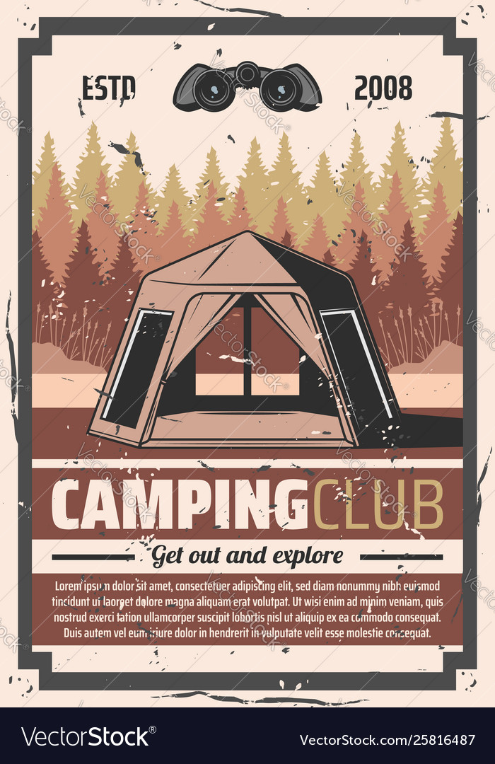 Hiking club forest camping travel adventure
