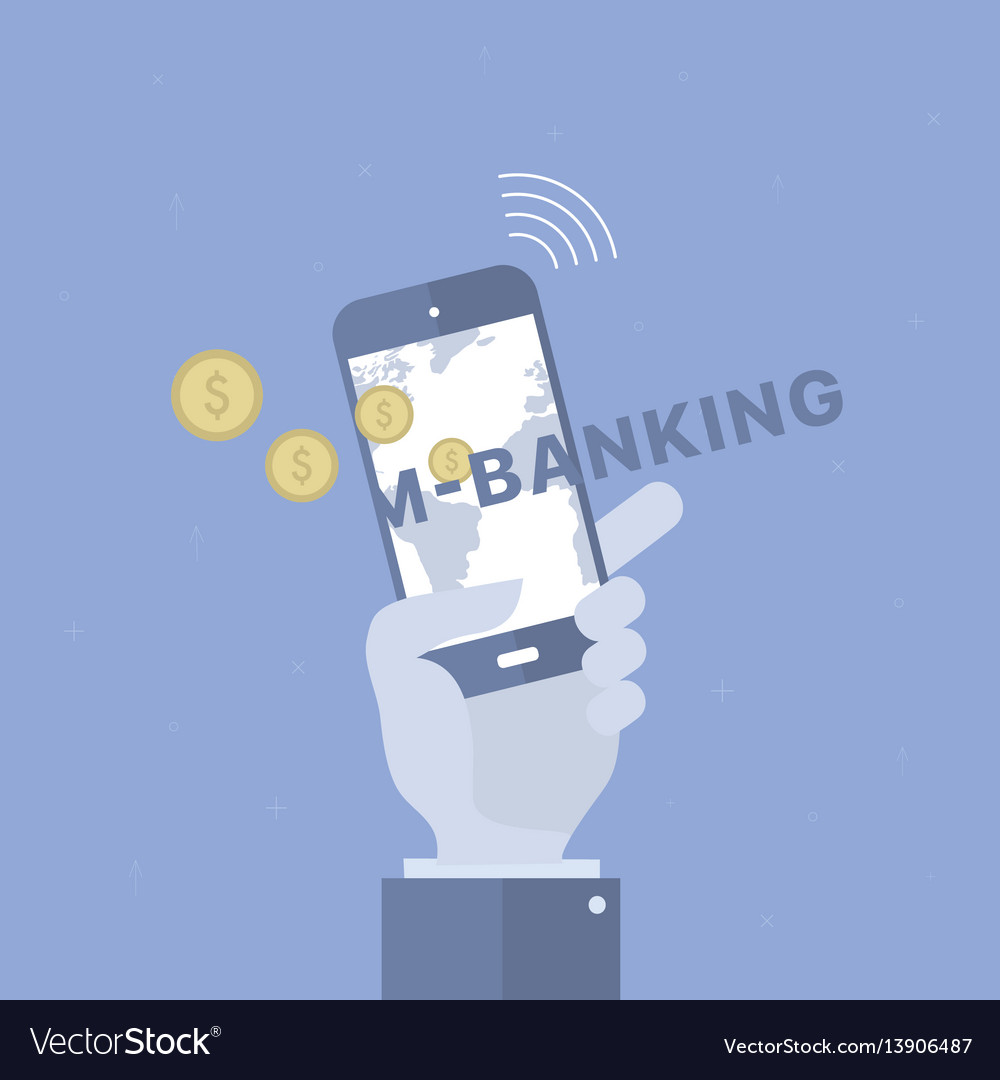 Mobile banking background
