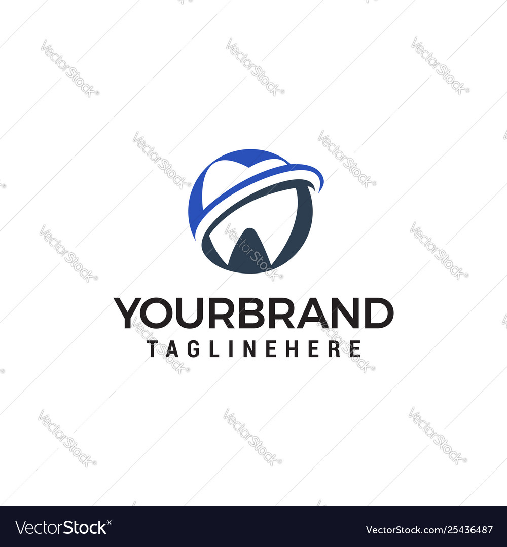 Tooth care logo design concept template