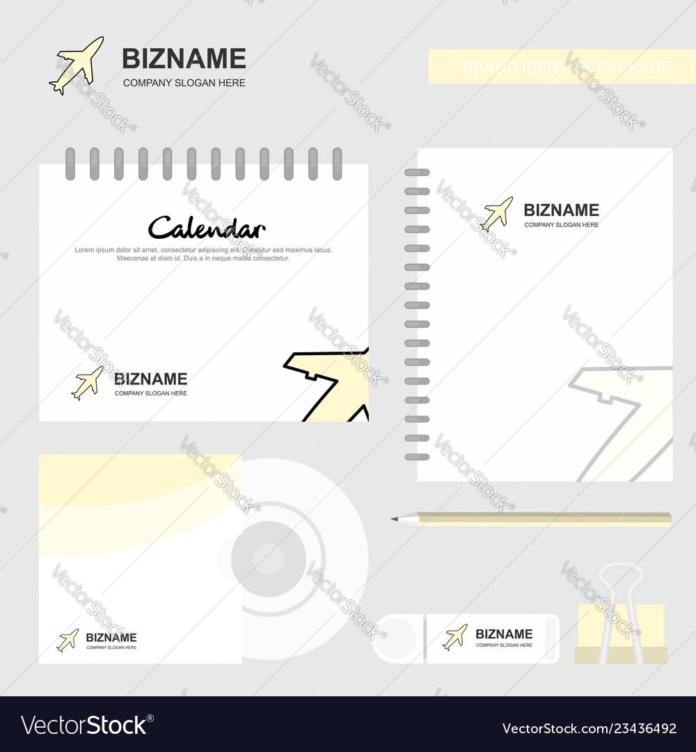 Aeroplane logo calendar template cd cover diary