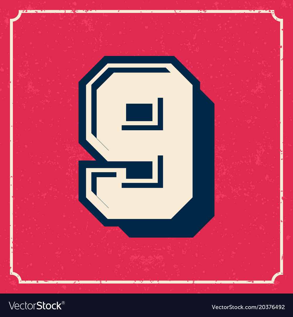 College cheerleader style american vintage font