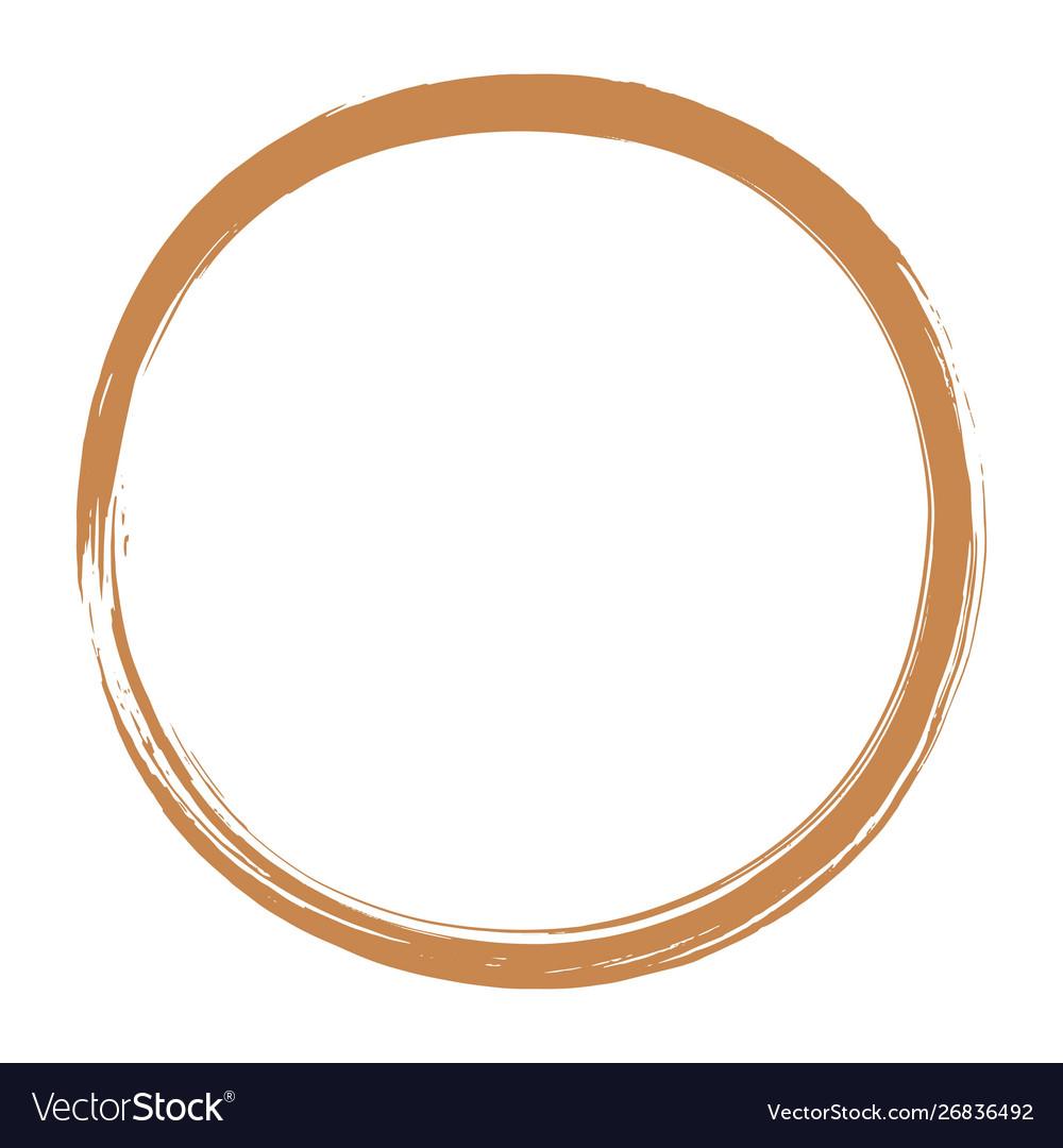 Golden enso zen circle brush