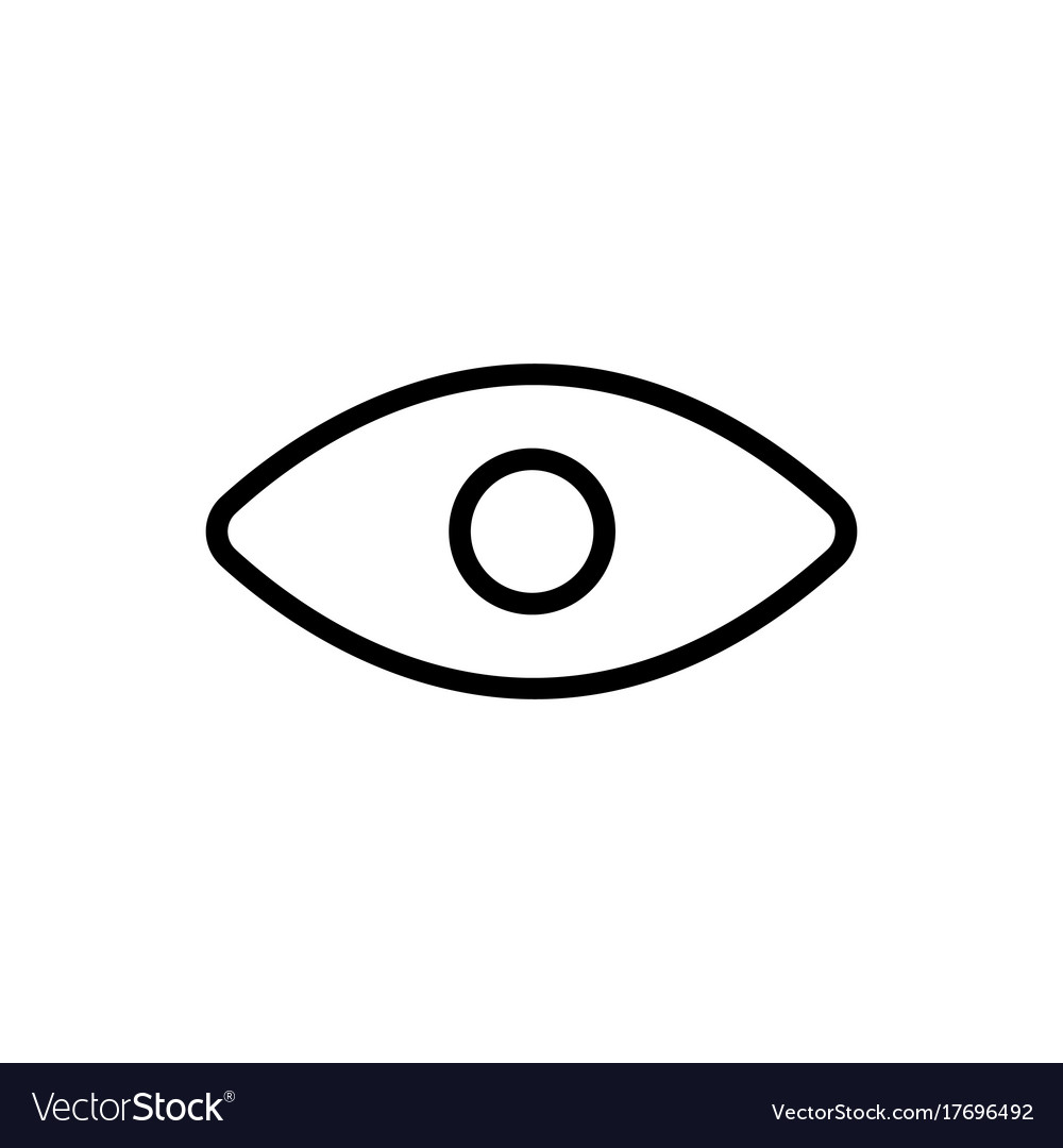 Line eye icon on white background vector image
