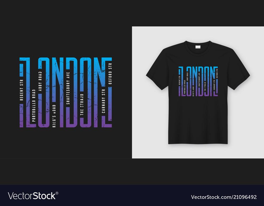 London streets stylish t-shirt and apparel design