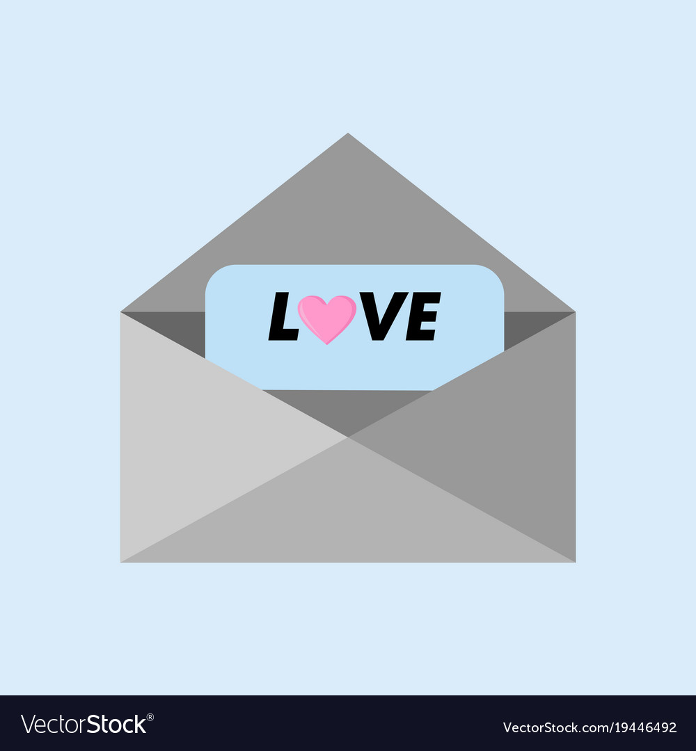Love Message Letter Greeting Graphic Royalty Free Vector