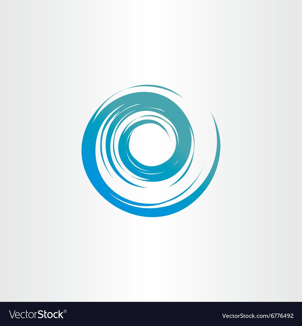 Tornado blue water wave spiral circle background vector image