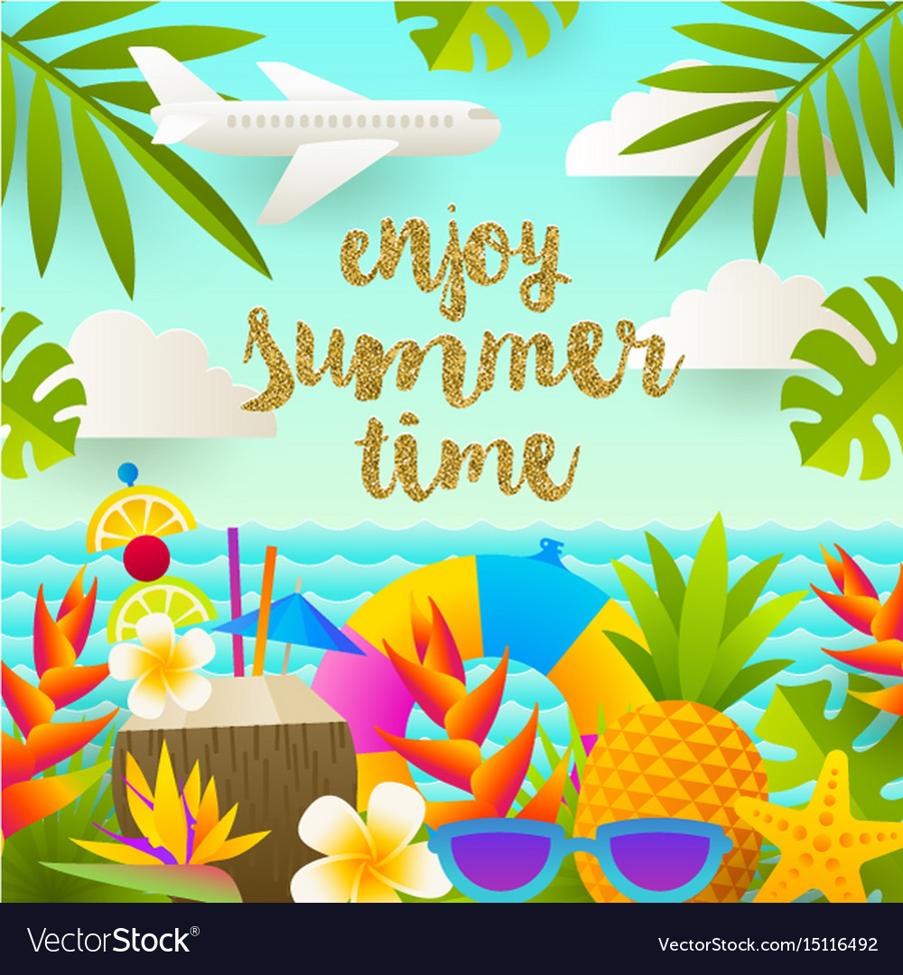 Tropical holidays and beach vacation design