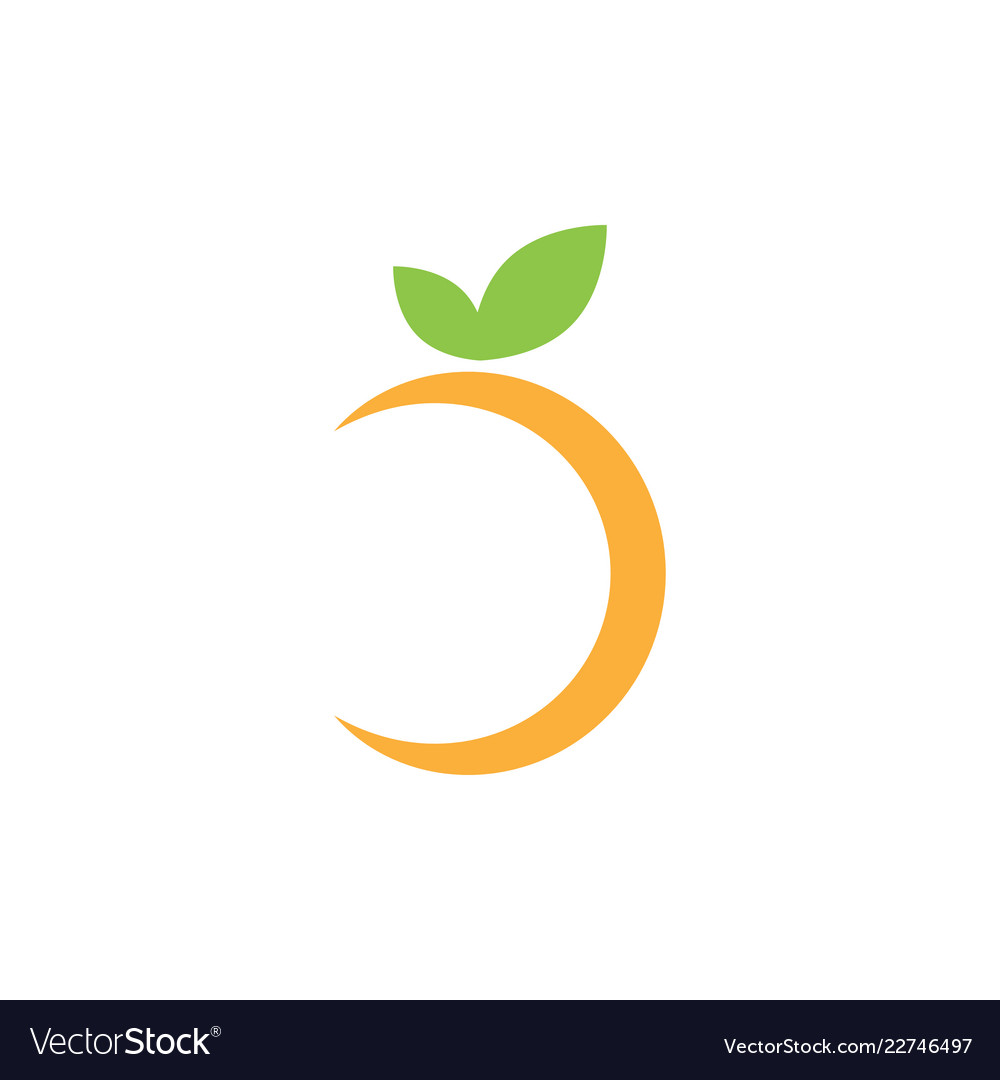 Abstract Orange Fruit Graphic Design Template