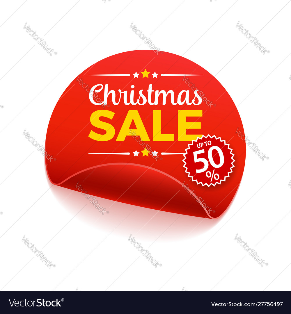 Christmas sale paper banner