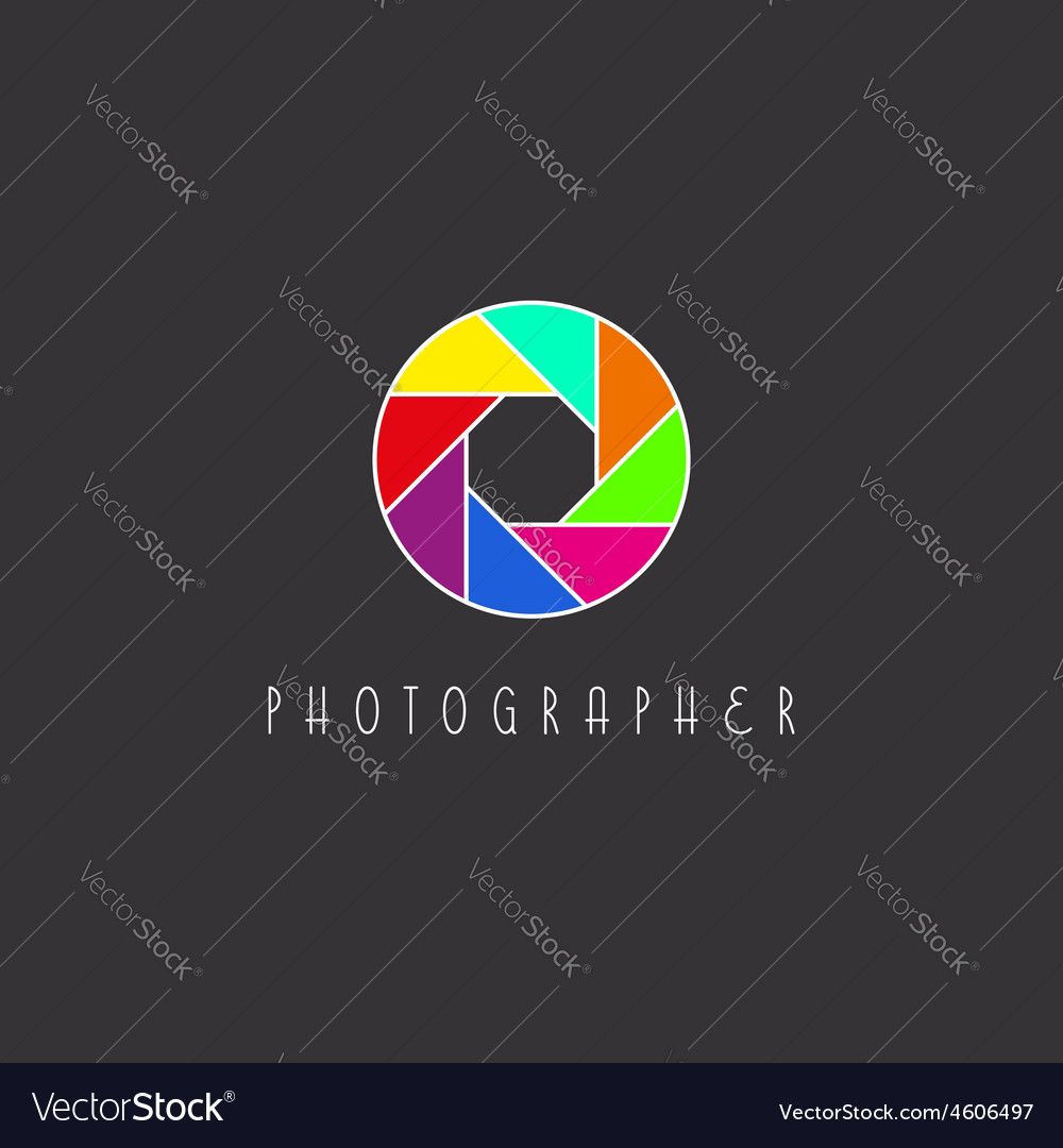 Colored aperture of the camera lens photo studio