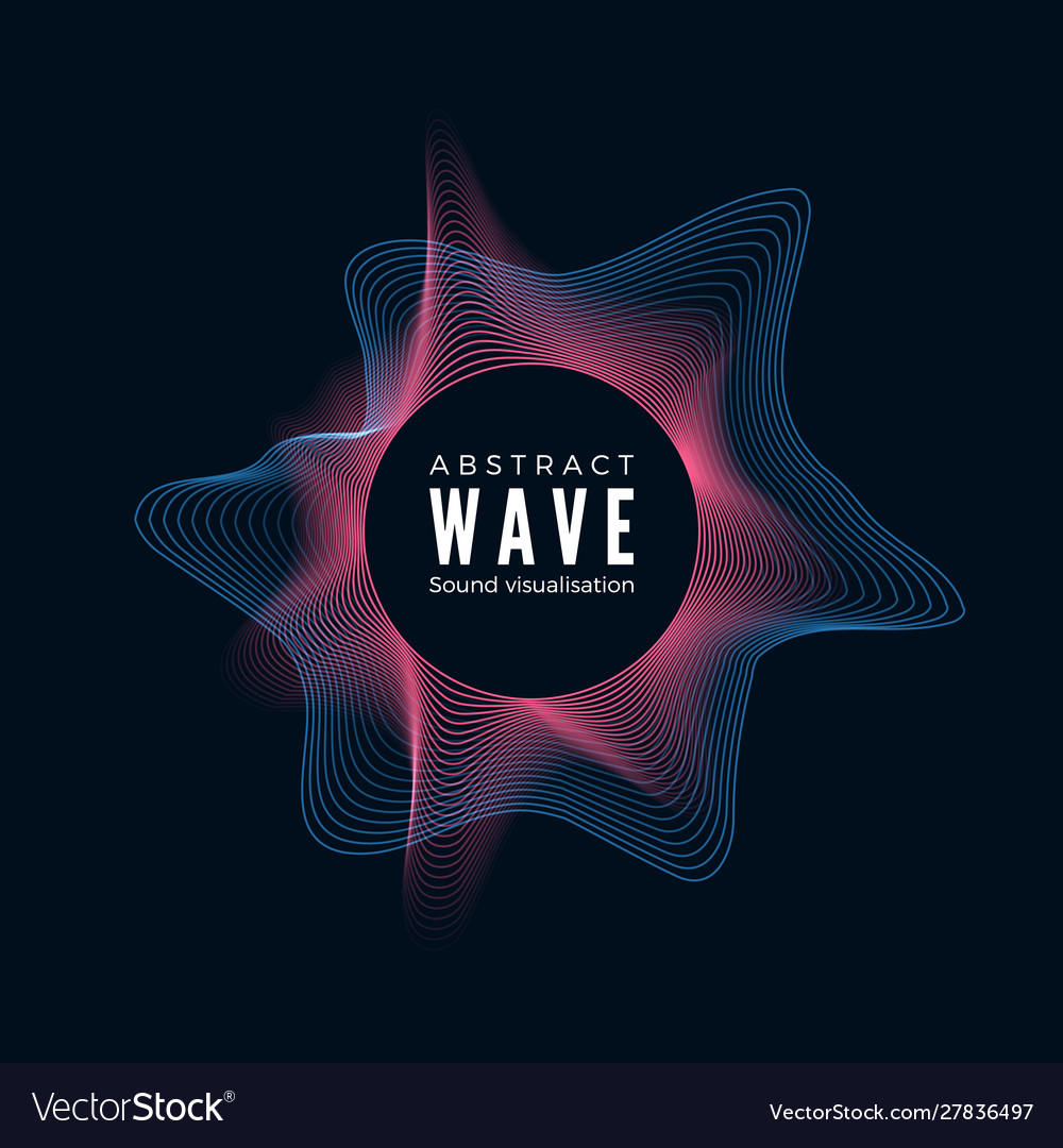 Design digital radial sound waves abstract