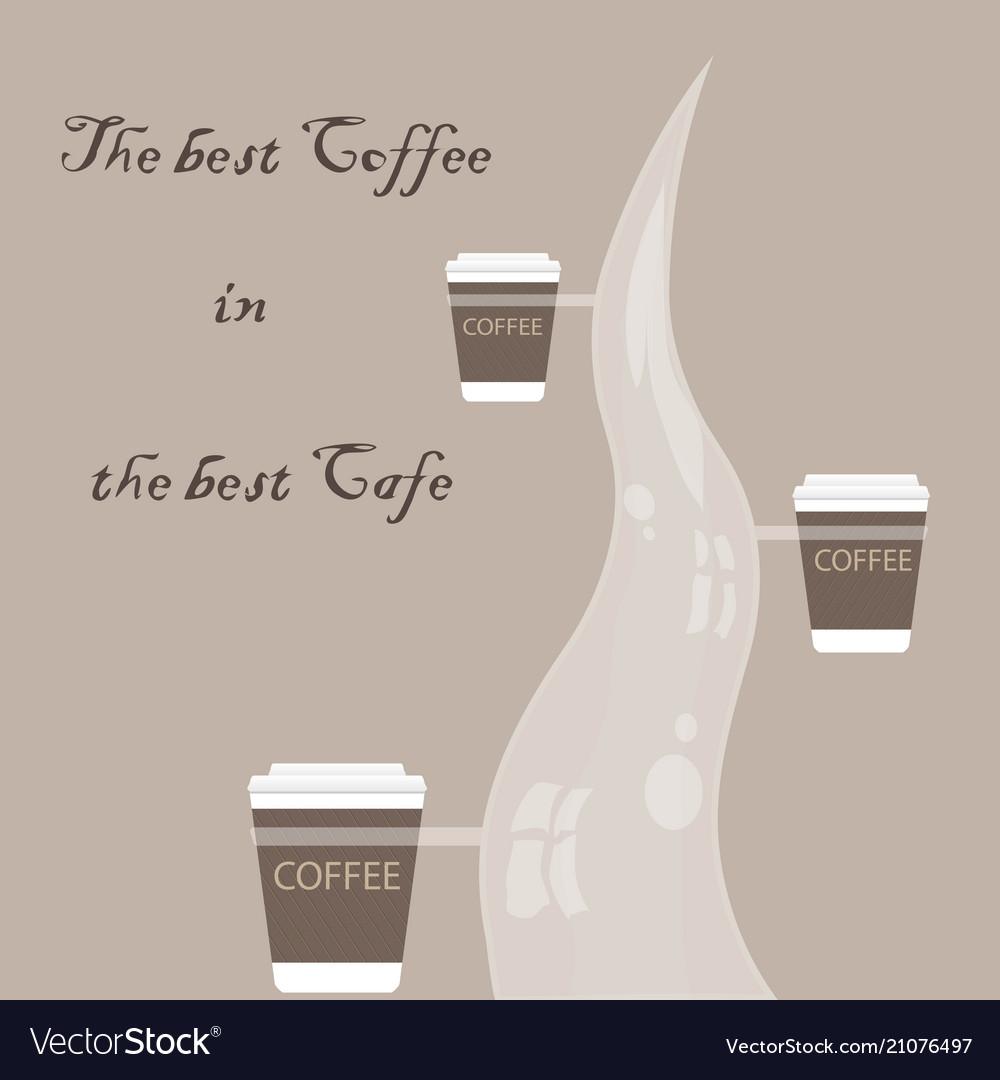 Menu and logo for restaurant cafe bar coffee ho