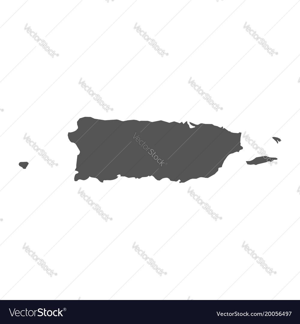 Puerto rico map black icon on white background