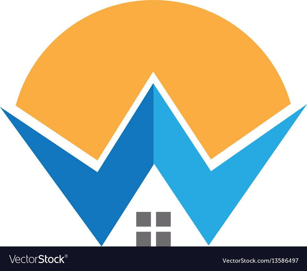 W letter property logo vector image