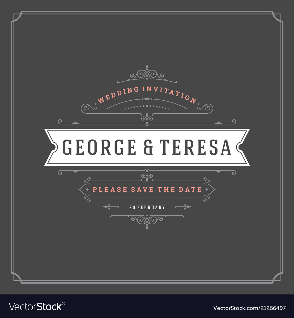 Wedding save the date invitation card design
