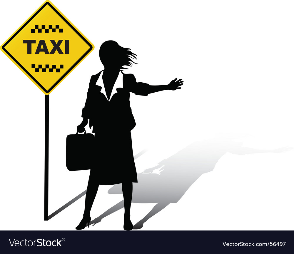 Woman wait taxi