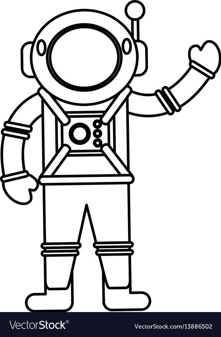 Astronaut spacesuit helmet outline