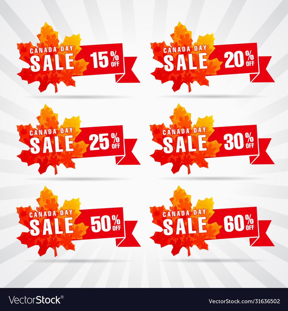 Canada Day Sale Royalty Free Vector Image Vectorstock