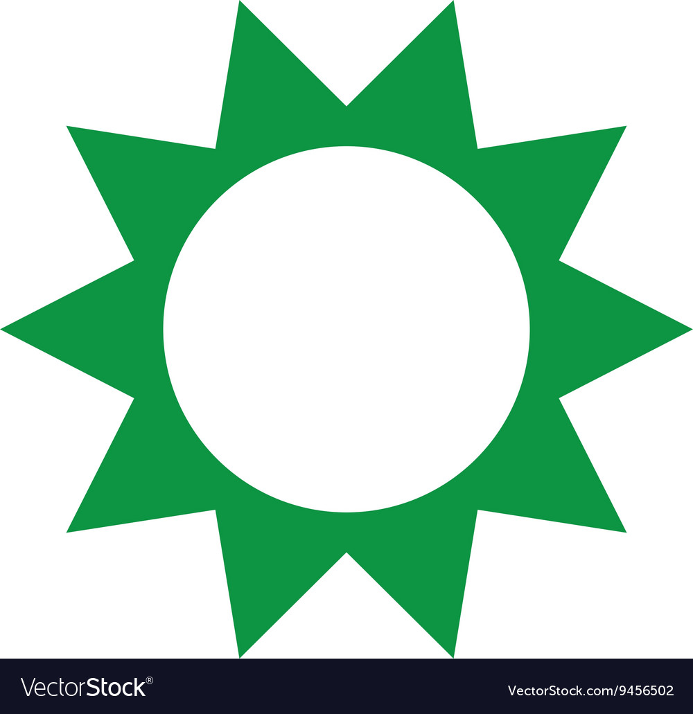 Green sun isolated icon design
