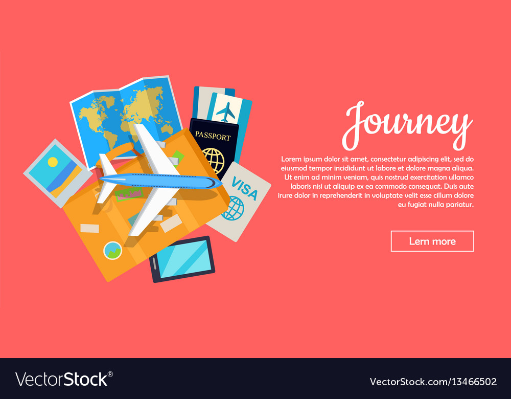 Journey conceptual flat style web banner