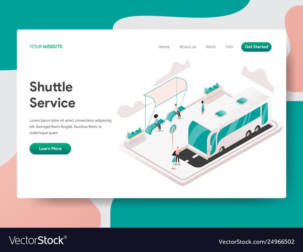 Landing page template shuttle service concept