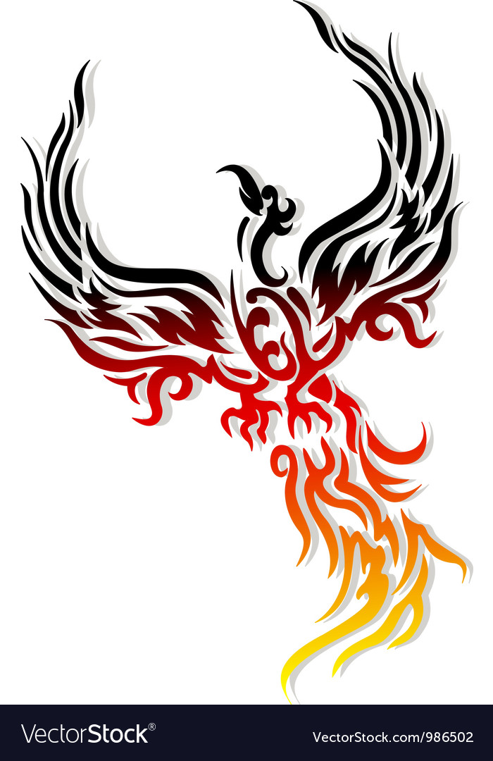mythical phoenix bird royalty free vector image